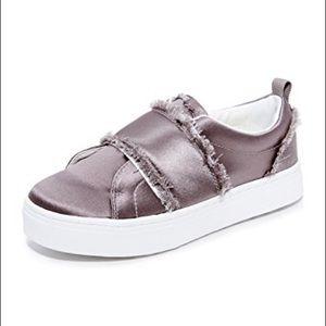 [Sam Edelman] Levine Slip On Frayed Satin Sneaker